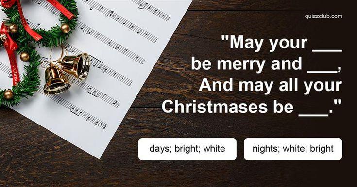 Test: The Hardest Christmas Lyrics Quiz You'll Ever Take #Winter #WinterInspiration #Christmas #Quiz #Trivia #Test