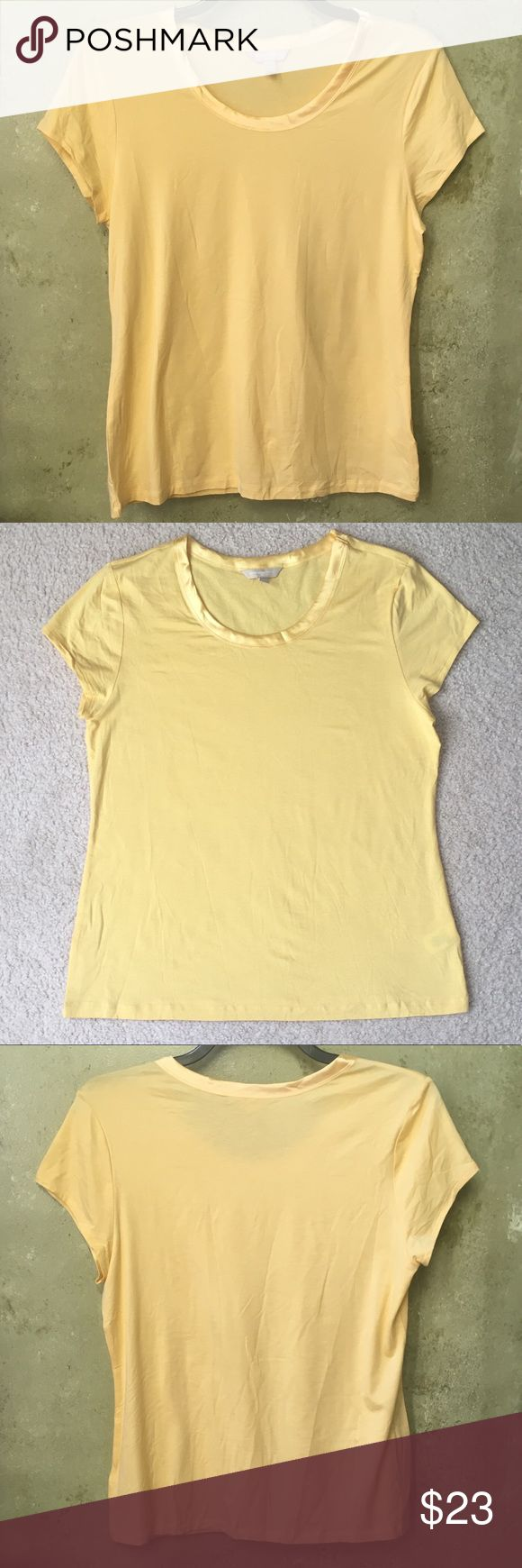 Banana Republic Top Banana Republic Top. Beautiful yellow short sleeve top in a size XL. Soft material and perfect for any occasion and outfit. NWOT Banana Republic Tops