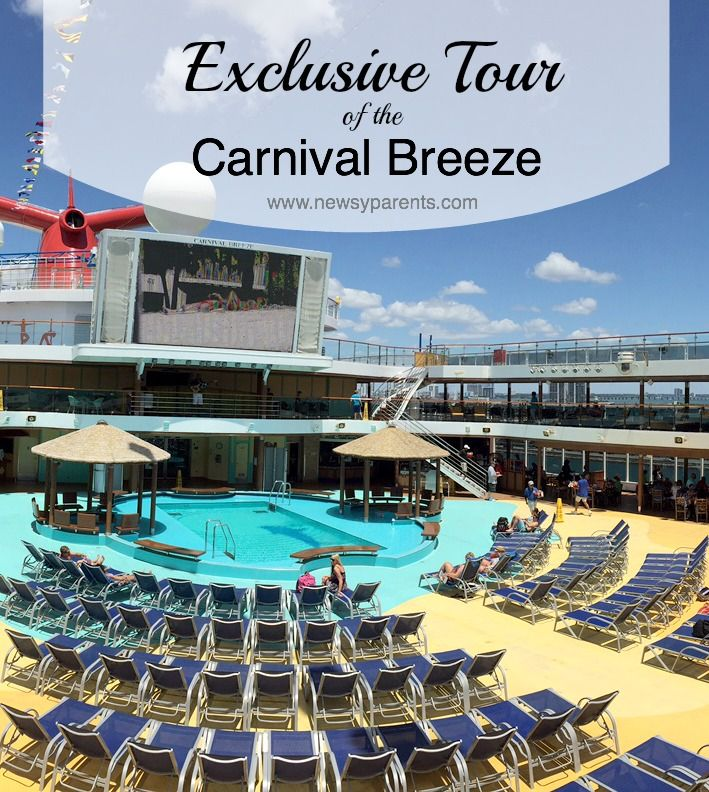 Get an exclusive look at the Carnival Breeze as we give you a tour inside of the staterooms, dining, spa and amenities for adults and kids!