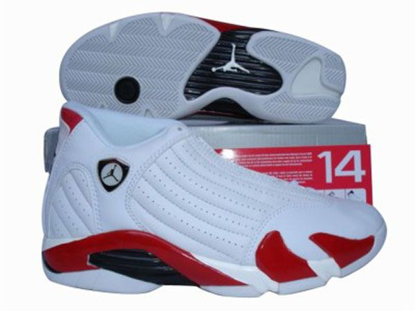 Cheap Air Jordan Retro 14 Shoes In White/Red