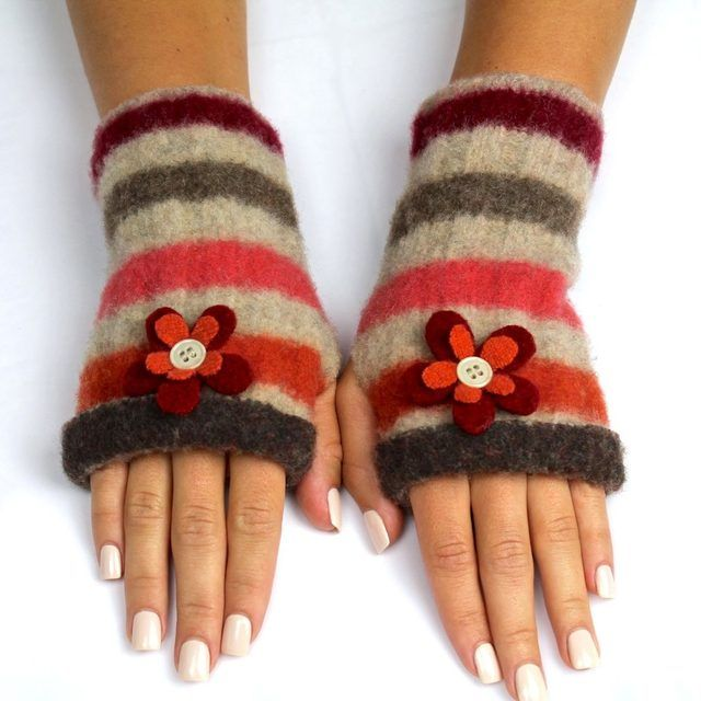 How to make Felt Fingerless Gloves