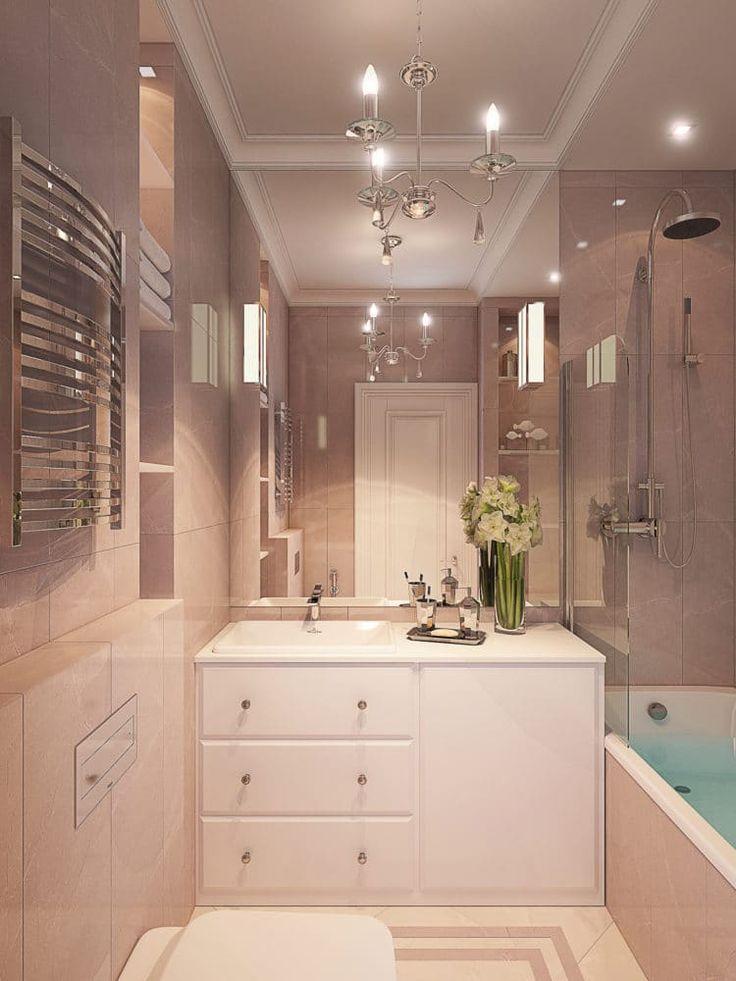 Ванная в  цветах:   Бежевый, Коричневый, Светло-серый, Серый.  Ванная в  стиле:   Минимализм.