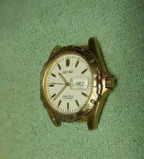 VINTAGE SEIKO PERPETUAL CALENDAR SILVER WAVE MENS  WATCH NEW BATTERY DAY/DATE