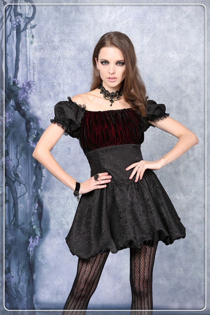 Dw081 Gothic Mini Dress,Fancy Reflective Silk Material $76.87