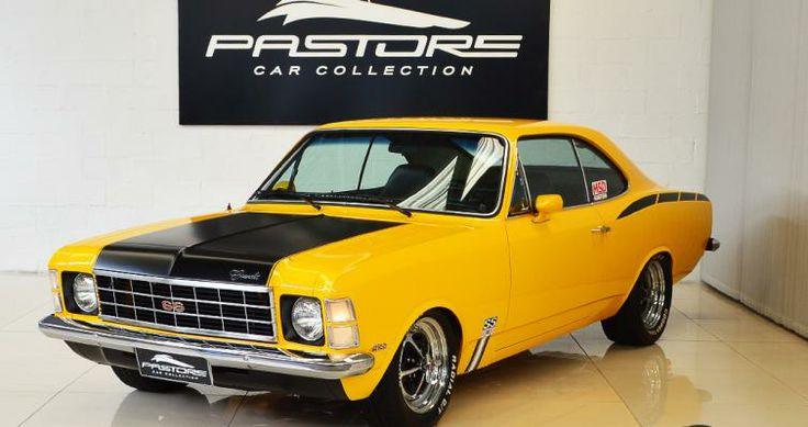 Gm Opala SS 4100 1976 Amarelo - Pastore Car Collection