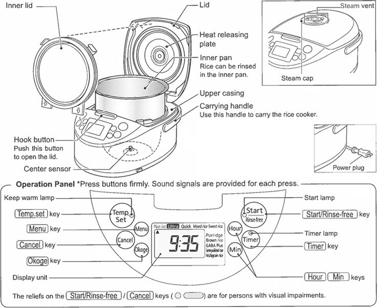 tiger rice cooker wiring diagram