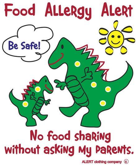Food Allergy Alert shirts - Genius mom-based company in Alpharetta!
