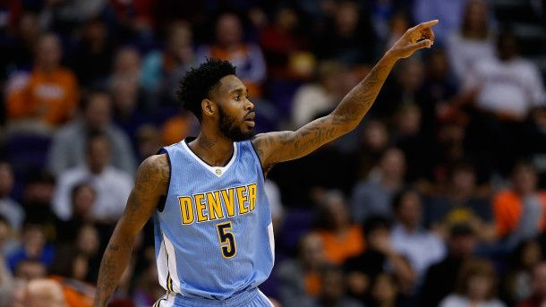 PHOENIX, AZ - DECEMBER 23:  Will Barton #5 of the Denver Nuggets reacts after scoring against the Phoenix Suns during the second half of the NBA game at Talking Stick Resort Arena on December 23, 2015 in Phoenix, Arizona.  The Nuggets defeated the Suns 104-96. NOTE TO USER: User expressly acknowledges and agrees that, by downloading and or using this photograph, User is consenting to the terms and conditions of the Getty Images License Agreement.  (Photo by Christian Petersen/Getty Images)