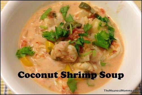 Coconut Shrimp Soup Yep this looks yummy!