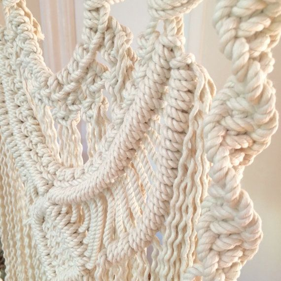 Macrame Wall Hanging on Driftwood with Weave by HomeVibesMacrame