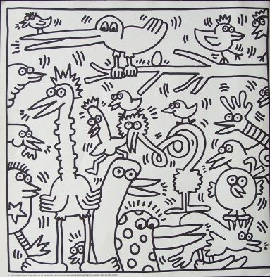 Keith Haring draws the mess in my brain like no-one else. Today, the non-coherent and cohesive birds are happy, though