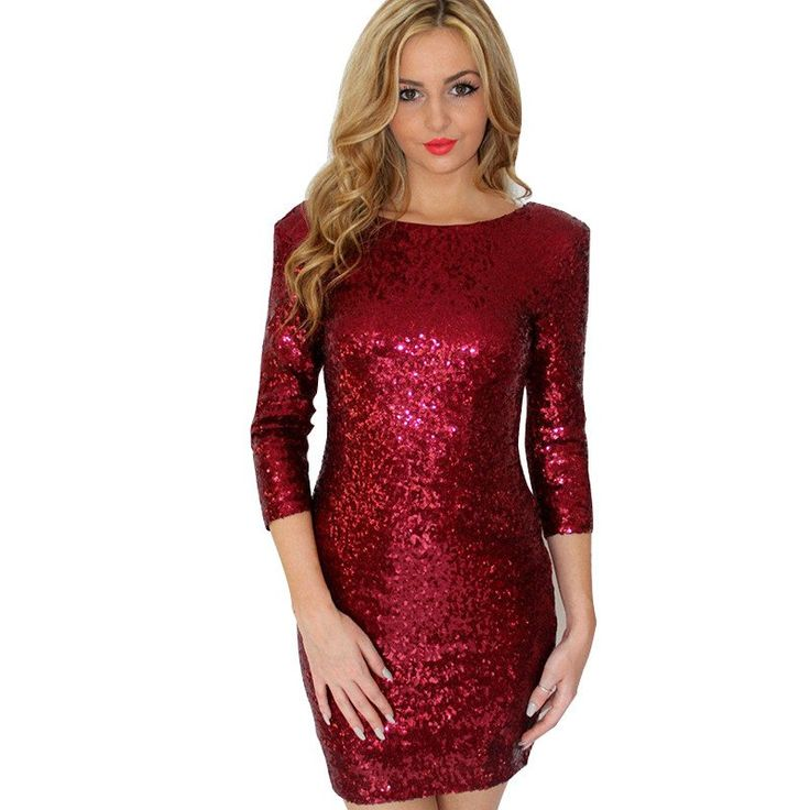 Gender: Women Waistline: Natural Decoration: Sequined Sleeve Style: Regular Pattern Type: Solid Style: Sexy & Club Brand Name: yenkye Material: Polyester Season: Autumn Dresses Length: Above Knee, Min