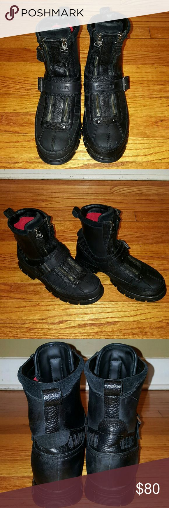 Men's Polo Ralph Lauren Kilnwick boots Men's boots leather upper, synthetic lining. Wore twice in excellant condition. These boots are no longer available through Ralph Lauren website nor Macy's. Polo by Ralph Lauren Shoes Boots