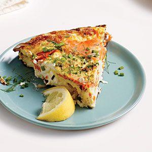 Creamy Smoked Salmon and Dill Frittata | MyRecipes.com