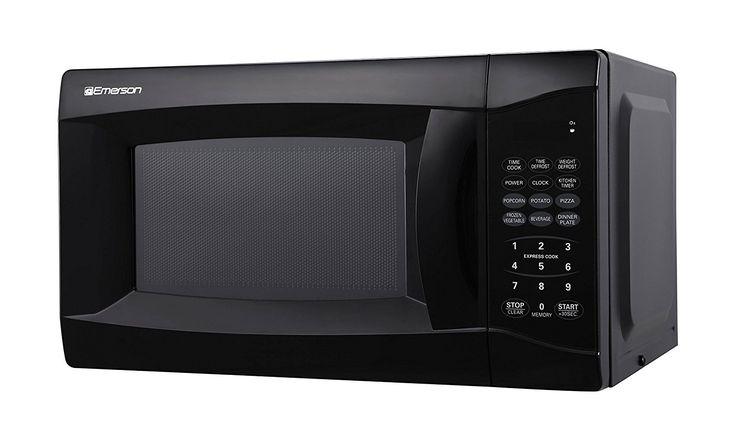 Emerson MW7302B, 0.7 CU. FT. 700 Watt, Touch Control, Black Microwave Oven