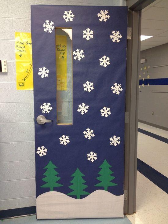 My winter classroom door #Christmas Decor| http://christmasdecor.hana.lemoncoin.org