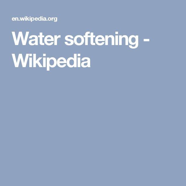 Water softening - Wikipedia