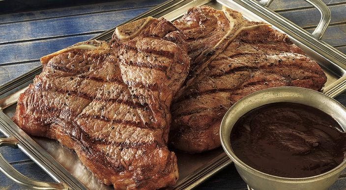 Check out this delicious recipe for Enormous Porterhouse Steaks with Homemade Steak Sauce from Weber—the world's number one authority in grilling.
