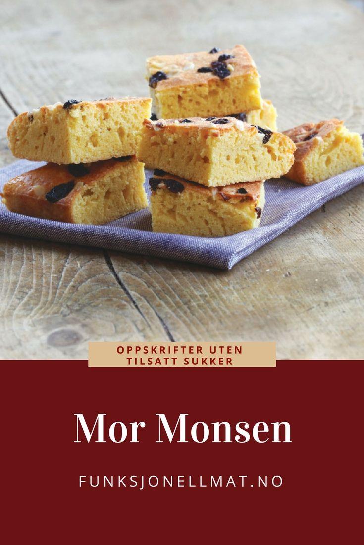 Mor Monsen - Funksjonell Mat | Sukkerfri kake | Sunn dessert | Oppskrifter til inspirasjon | Kake uten tilsatt sukker | Norsk kake | Tradisjonelle oppskrifter
