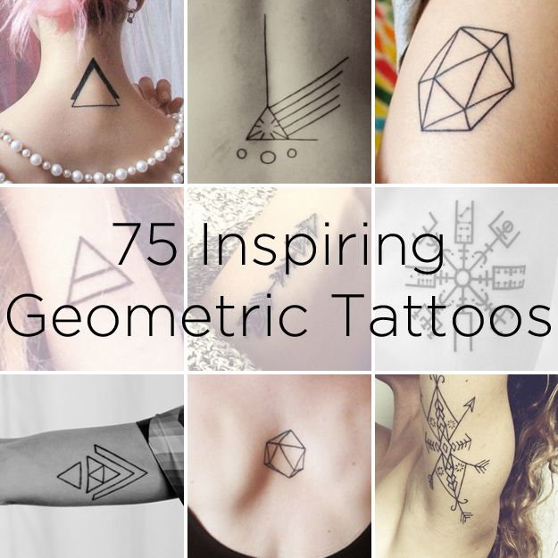 75 Graphically Gorgeous Geometric Tattoos Made me think of @Andrea VonFeldt :)