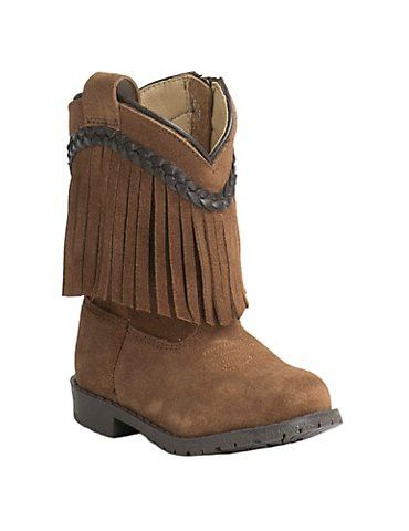 Smoky Mountain Hop-Along Brown Fringe Toddler Cowgirl Boots 3575T