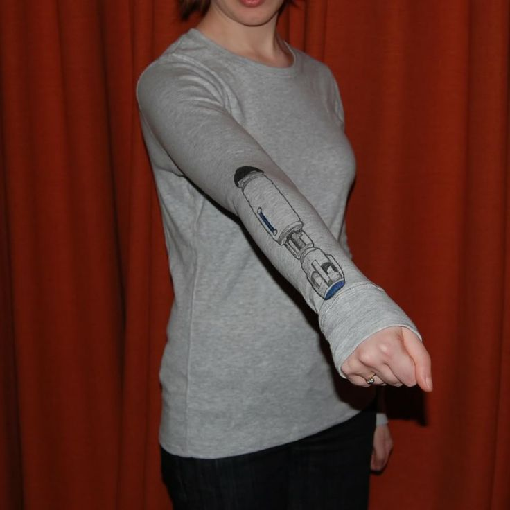 long-sleeve Sonic Screwdriver shirt. #DoctorWho