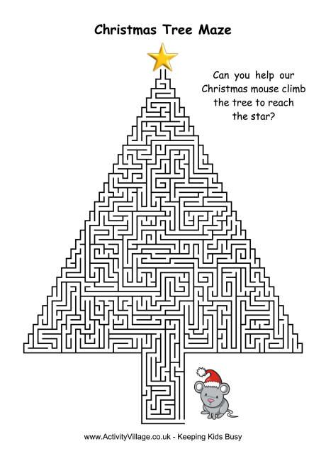 Christmas Tree Maze 1... This might be fun for Gray
