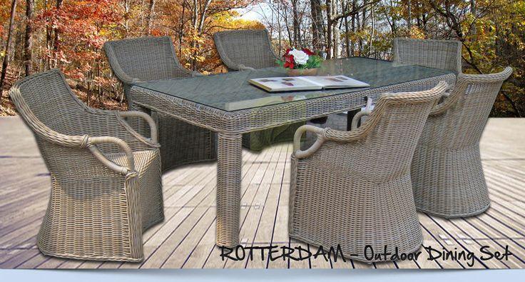ROTTERDAM – Outdoor Wicker Dining Set