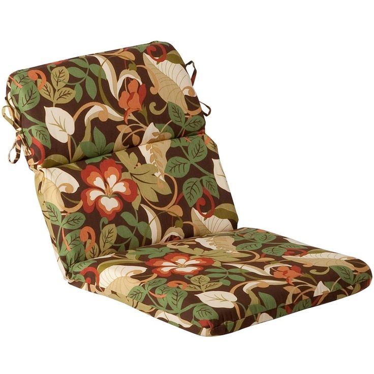 Outdoor Patio Furniture High Back Chair Cushion - Floral Cafe, Multi, Outdoor Cushion