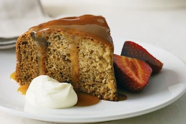 Sticky Date Pudding with Caramel Sauce - Warm pudding with sweet dates is just the thing for when a chill is in the autumn air.