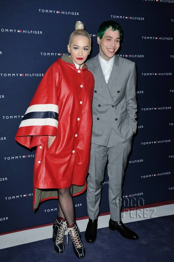 Rita Ora and her boyfriend Ricky Hilfiger attend the Tommy Hilfiger store opening in Paris!