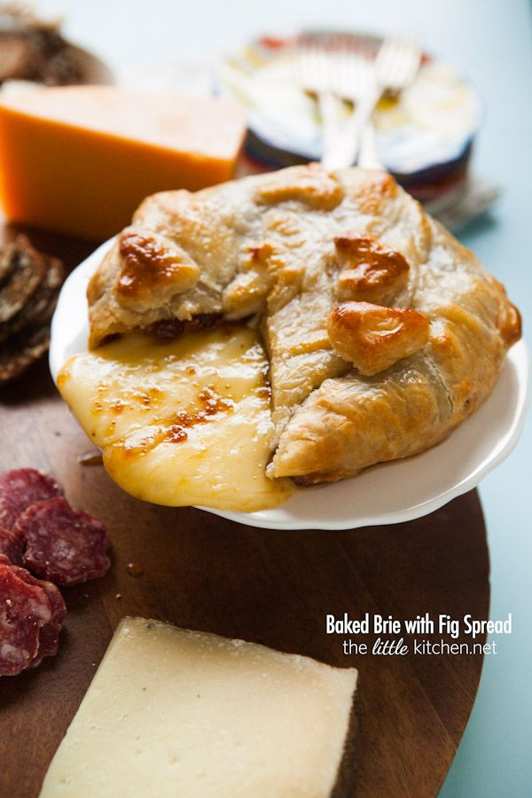 Baked Brie with Fig Spread from thelittlekitchen.net @Matt Nickles Valk Chuah Little Kitchen | Julie Deily