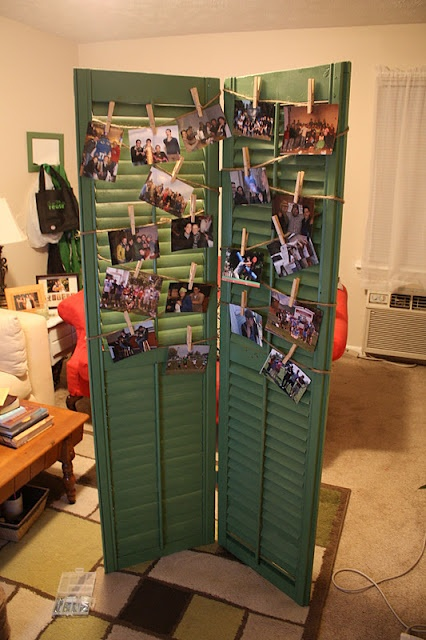 shutters to display photos at a party