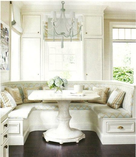 "Dining Banquette Furniture: I Am Seriously Entertaining The Idea Of Building A ""nook"