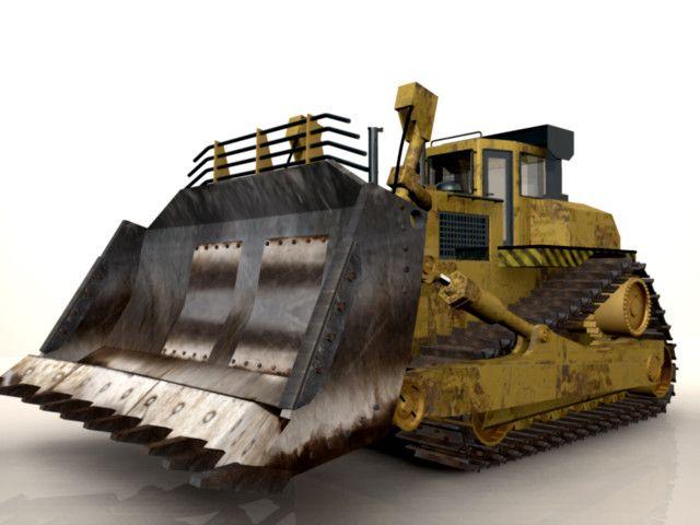 Cat Bulldozer 3D Obj - 3D Model