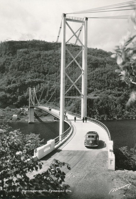 Hardangerveien - Fyksesund Bru  #history #svenkvia #norge #norway #car #hardanger #fyksesund
