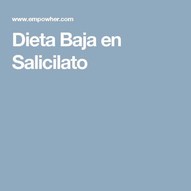 Dieta Baja en Salicilato