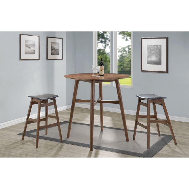 Coaster Furniture Coaster Landers 3 Piece Round Pub Table Set - COA3651