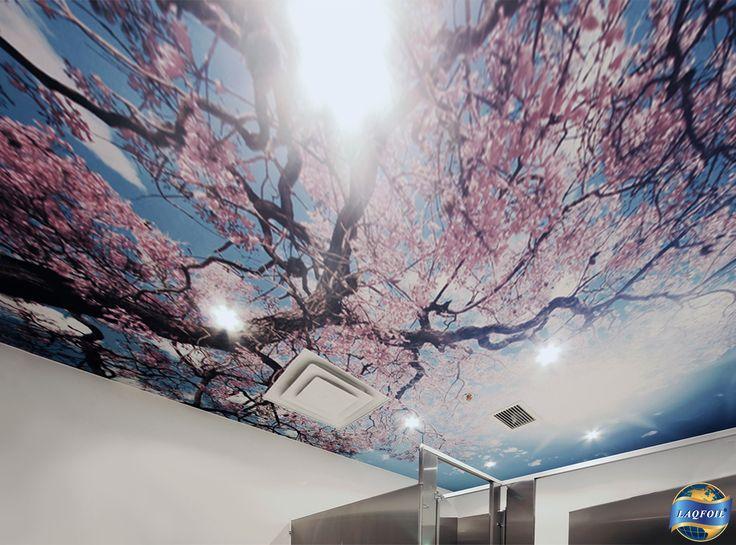 Cherry Blossoms, Sakura In Japanese, Adorn A Washroom Ceiling In The Home U0026  Design. Expo CenterToronto ...