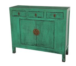 Antique green storage cabinet LA127