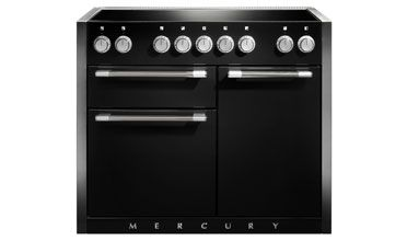 Mercury's 1082 combines cutting edge style with uncompromising quality to deliver a range cooker which is an object of desire for the style conscious. With a powerful gas hob and eye-catching hi-fi knobs, the Mercury 1082 provides top quality performance with unique trend setting designs.