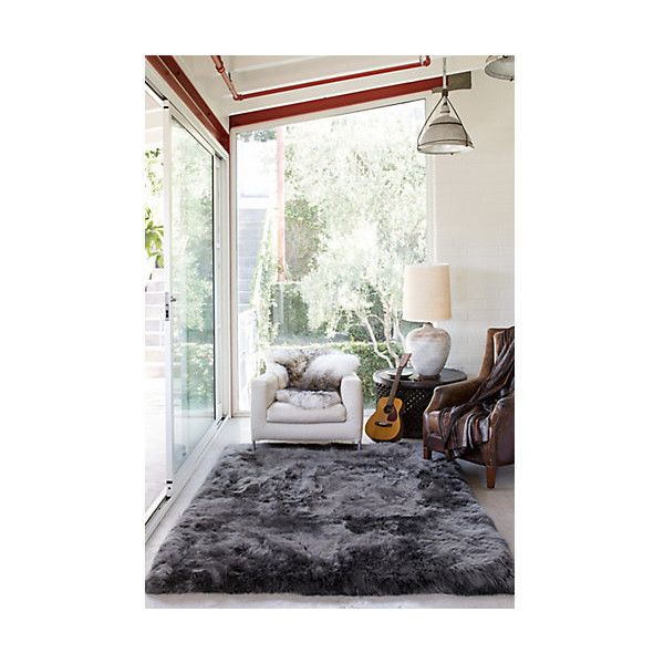 Overland 5.5' x 8' Premium Australian Sheepskin Rug (300 KWD) ❤ liked on Polyvore featuring home, rugs, rustic area rugs, plush area rugs, rustic rugs, plush rugs and pile rug