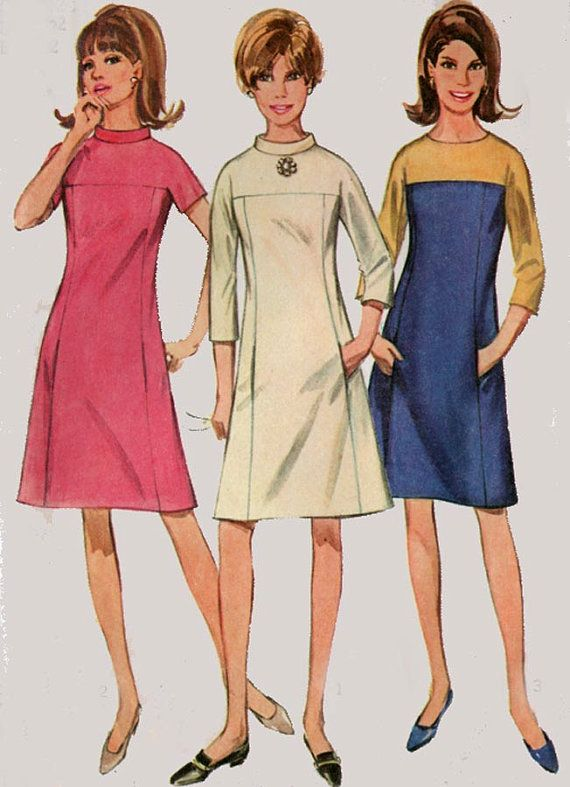 Vintage 60s Sewing Pattern Simplicity 7196 MOD MAD by sandritocat, $10.00