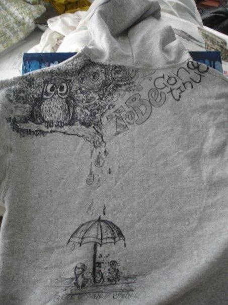 back... sharpie art sweatshirt