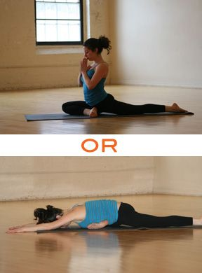 I did these and my hips feel so much  looser Stretch Those Tight Hips and Lower Back - These feel great!