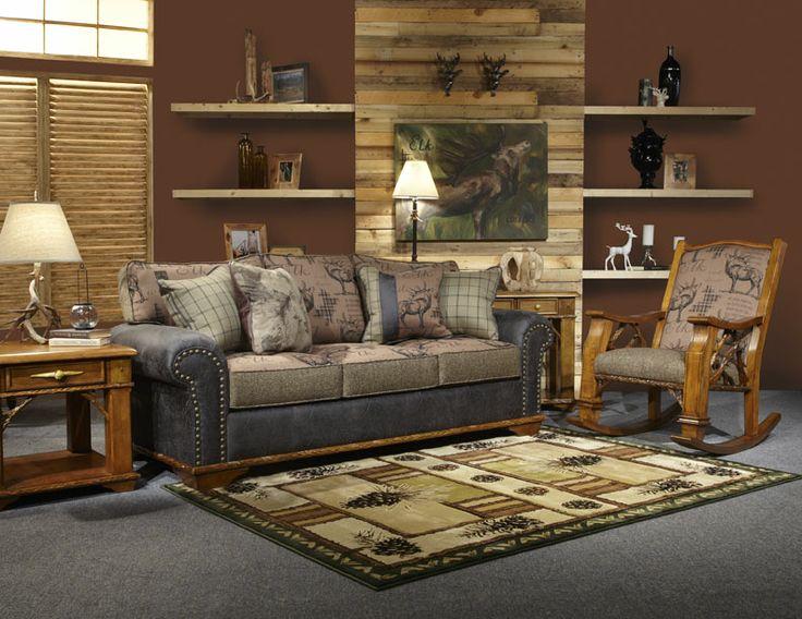 Flathead Lake Mountain Style Lodge Marshfield Furniture Cabin Ideas Living Room Rustic Decor Fever