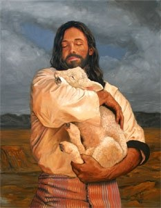 Love this image of Jesus as the Good Shepherd