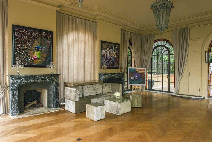 Champagne velvet furniture