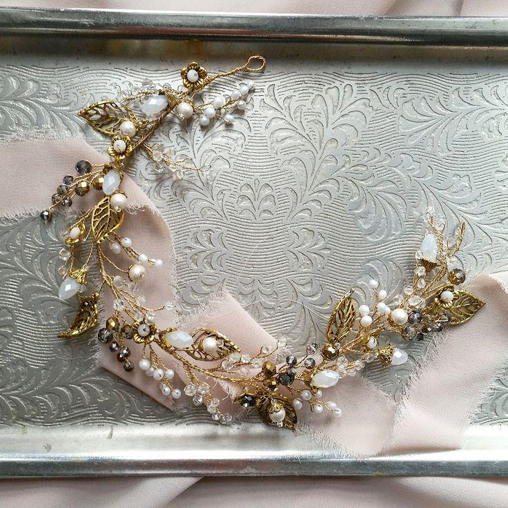 coronas de flores de la boda: corona de la boda de Paulina