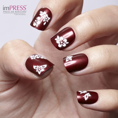 Create A Custom Mani Like This In Minutes With Impress Manicure Casting Call Kiss Nail Artist Stickers Design Pinterest Nails